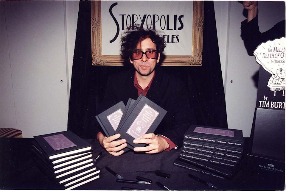 """<p>King of melancholy and dark humor Tim Burton channeled that energy into a collection of poems and short stories, <em>The Melancholy Death of Oyster Boy and Other Stories</em>, that was released in 1997. </p><p>In true Tim fashion, the work focused on characters named things like Robot Boy, whose parents hate him because he reminds them of his mom's affair with a blender, Junk Girl and Char Boy, who identify with garbage so much that they actually become it, and Stick Boy, who is too fail to handle anything difficult, the <a href=""""https://aux.avclub.com/tim-burton-the-melancholy-death-of-oyster-boy-1798193733"""" rel=""""nofollow noopener"""" target=""""_blank"""" data-ylk=""""slk:AV Club"""" class=""""link rapid-noclick-resp"""">AV Club</a> explained in a review. </p><p><a class=""""link rapid-noclick-resp"""" href=""""https://www.amazon.com/Melancholy-Death-Oyster-Other-Stories/dp/0688156819/ref=sr_1_1?dchild=1&keywords=tim+burton&qid=1599799725&s=books&sr=1-1&tag=syn-yahoo-20&ascsubtag=%5Bartid%7C2140.g.33987725%5Bsrc%7Cyahoo-us"""" rel=""""nofollow noopener"""" target=""""_blank"""" data-ylk=""""slk:Buy the Book"""">Buy the Book</a></p>"""