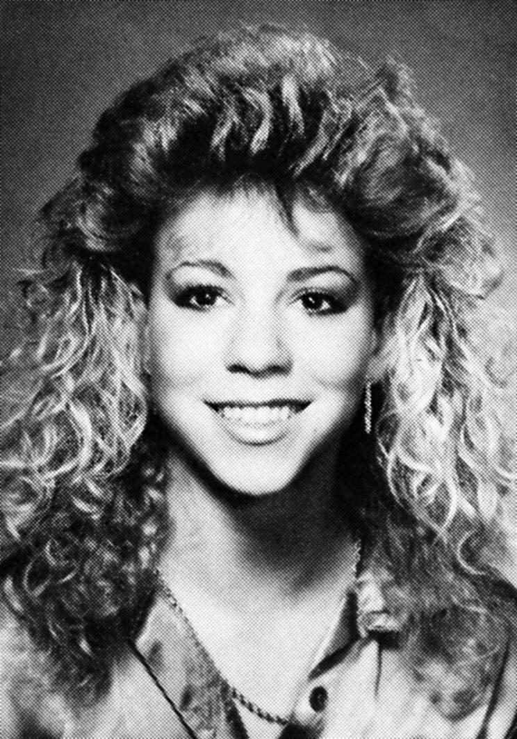 Mariah — in her senior year at Harborfields in 1987 — did not look young for her grade. However, if she had been born in 1970, she would have turned 17 two months before graduation. (Photo: Seth Poppel/Yearbook Library)