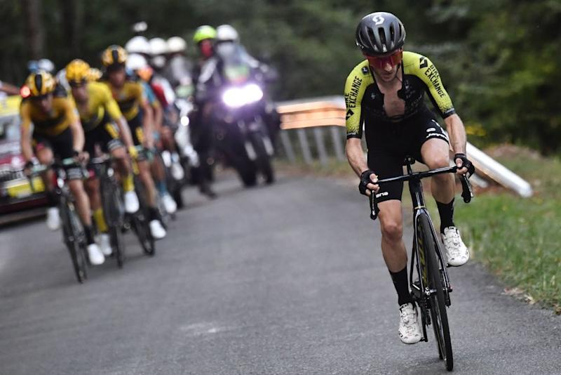 Mitchelton-Scott's Adam Yates attacks on the climb of the Col du Grand Colombier during stage 15 of the 2020 Tour de France