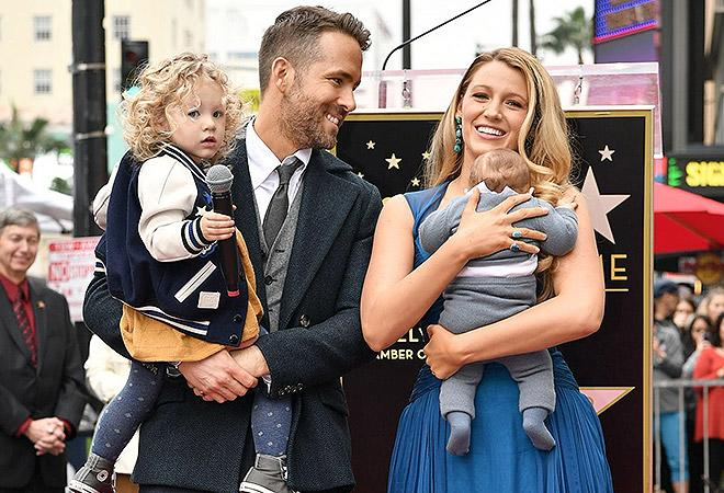 Blake Lively and Ryan Reynolds with their daughters