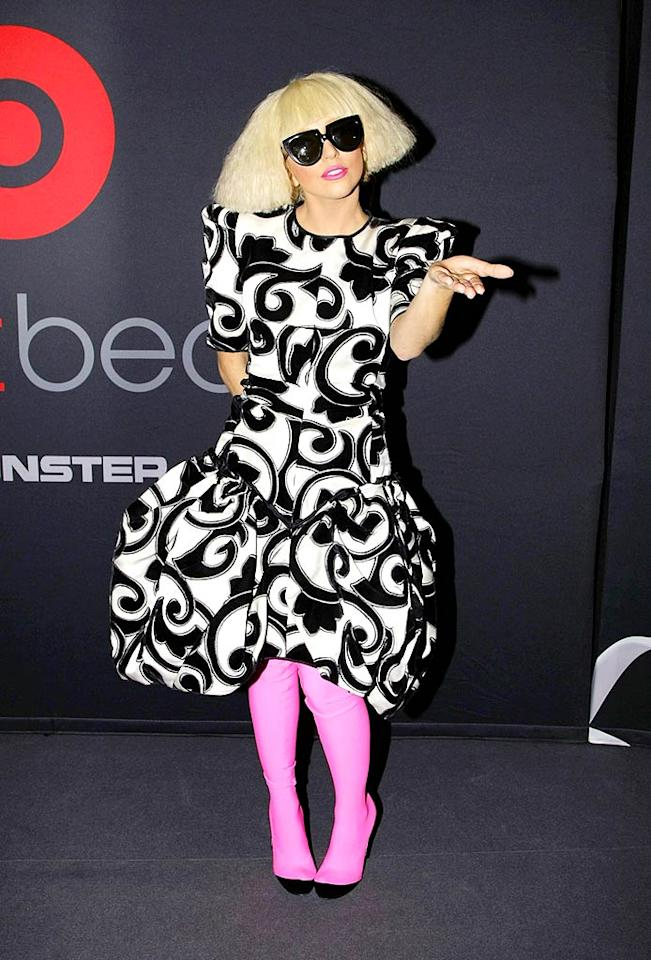 "The ""Just Dance"" diva made a second appearance that afternoon in a garish getup and crimped coif. Florian Seefried/<a href=""http://www.gettyimages.com/"" target=""new"">GettyImages.com</a> - September 7, 2009"