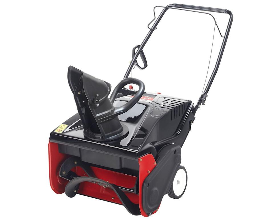 Yard Machines 21-inch Single-Stage Snow Blower is on sale at Walmart.