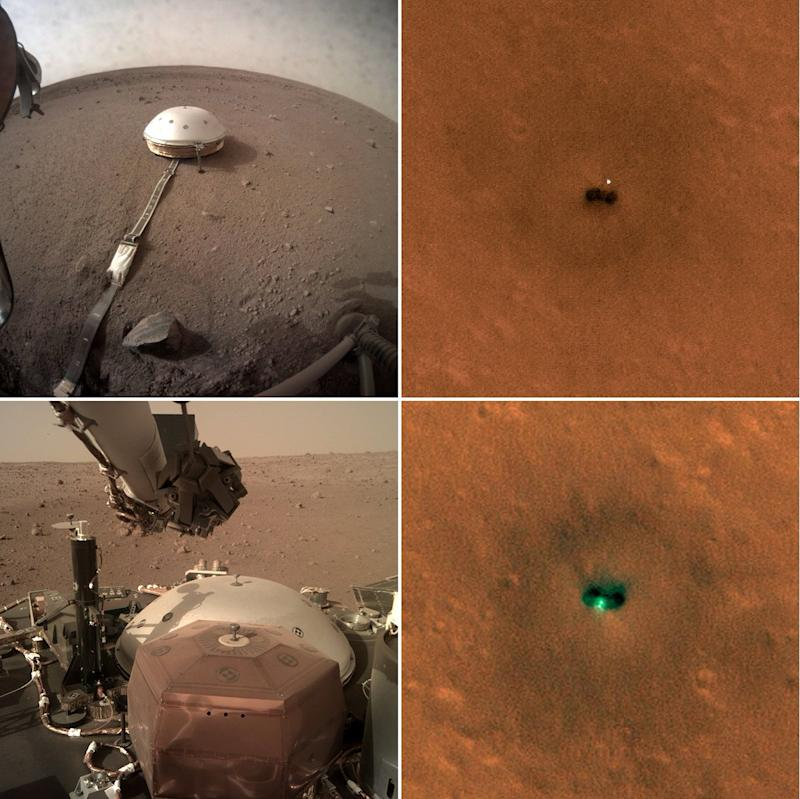 NASA Spies InSight Mars Lander from Space as It Hunts Marsquakes (Photos)