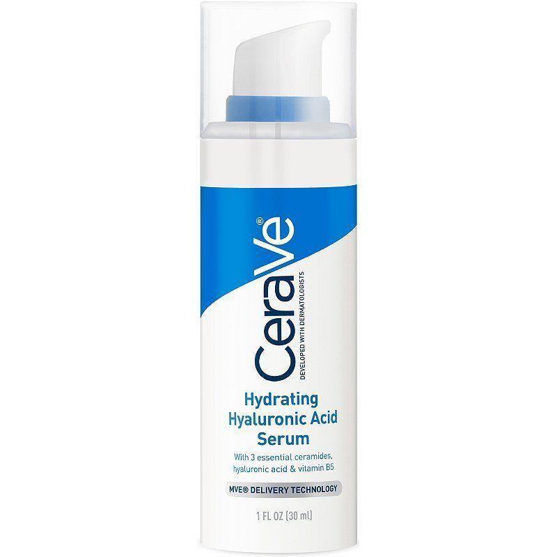 """<p><strong>CeraVe</strong></p><p><strong>$12.90</strong></p><p><a href=""""https://www.amazon.com/dp/B07K3261ZD?tag=syn-yahoo-20&ascsubtag=%5Bartid%7C10051.g.8091%5Bsrc%7Cyahoo-us"""" rel=""""nofollow noopener"""" target=""""_blank"""" data-ylk=""""slk:Shop Now"""" class=""""link rapid-noclick-resp"""">Shop Now</a></p><p>Winter months mean dryer skin, but what do you reach for when your goal isn't to be glowing like a disco ball all day? This hydrating hyaluronic acid serum adds moisture to the skin without making it look too dewy, thanks to its gel texture.</p>"""