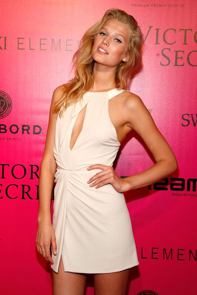 Model Toni Garrn attends the 2011 Victoria's Secret Fashion Show After Party at Dream Downtown on November 9, 2011 in New York City.  (Photo by Andy Kropa/Getty Images)