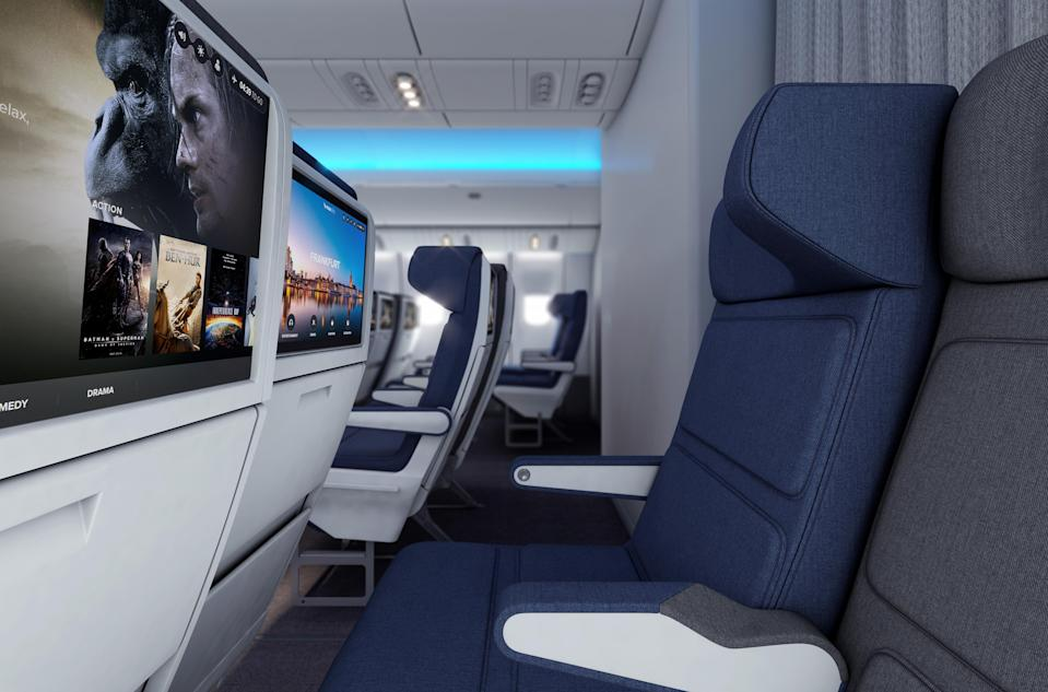 Molon Labe seats allow passengers to breathe their own personalized air.