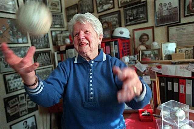 """The last known living member of the Rockford Peaches, Pratt died in her hometown of Bridgeport, Connecticut, at age 101. Pratt's team, the most successful squad of the All-American Girls Professional Baseball League of the 1940s, was immortalized in the film """"A League of Their Own."""" Pratt, while not featured specifically in the film, was a standout pitcher, winning 21 games in 1943 and pitching a no-hitter in 1944. When her playing days wrapped up, she became a teacher and coach in Massachusetts, guiding 10 championship softball teams along the way."""