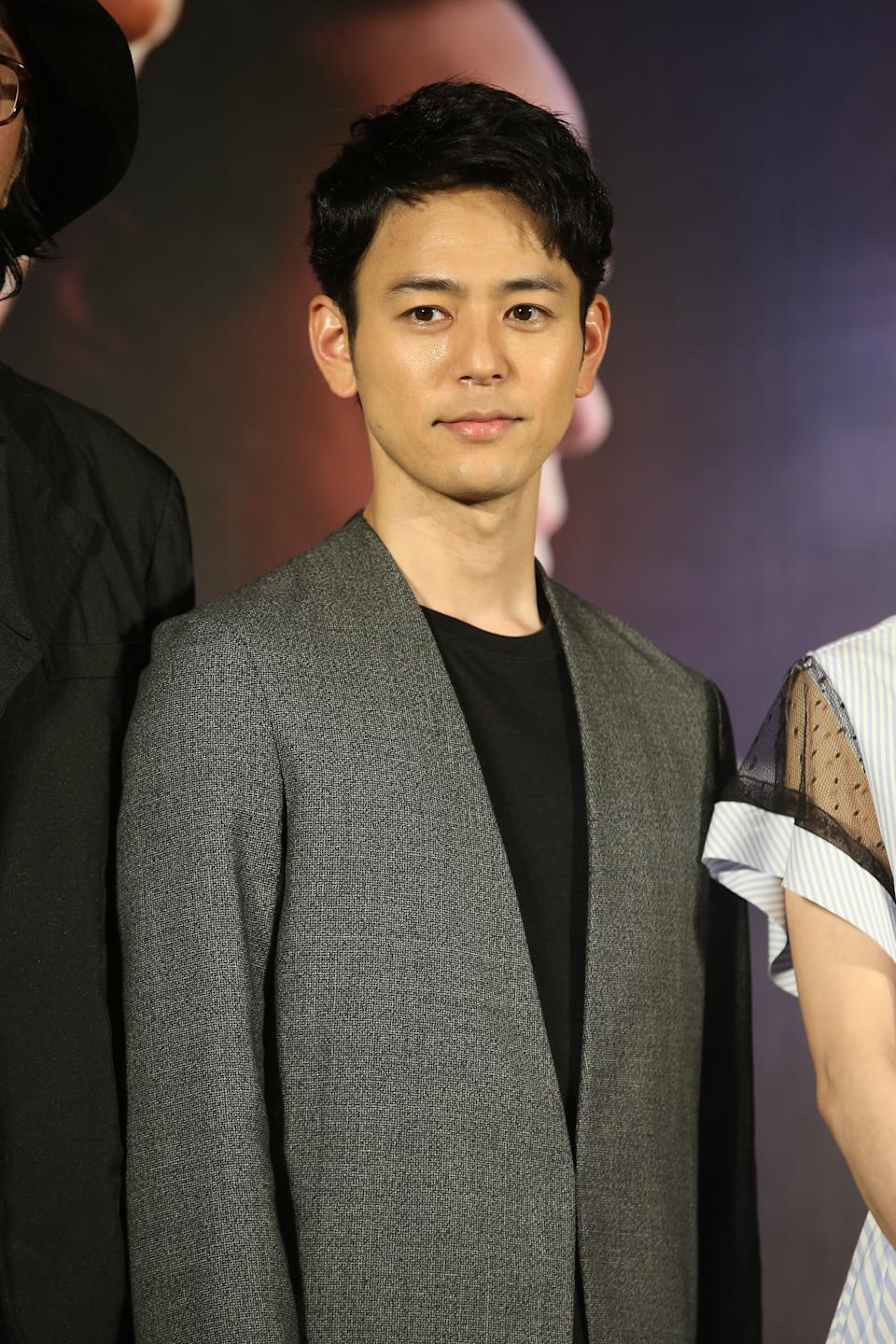 TAIPEI, CHINA - APRIL 29: Japanese actor Satoshi Tsumabuki attends a press conference of movie 'Paradise Next' on April 29, 2019 in Taipei, Taiwan of China. (Photo by Visual China Group via Getty Images/Visual China Group via Getty Images)