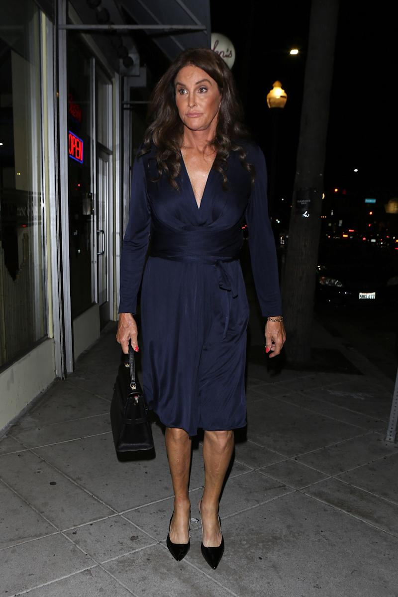 Is Caitlyn Jenner Wearing The Ss Of Cambridge S Engagement Photo Dress