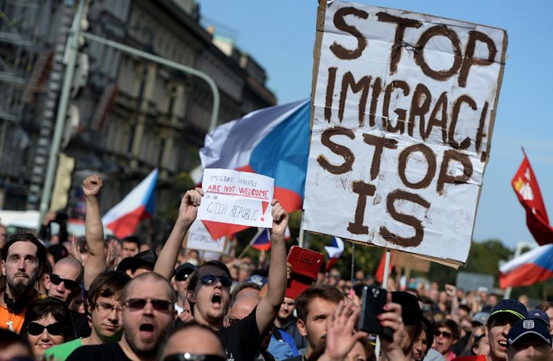 The presidential campaign has been largely focused on migration and a recent poll showed 81 percent of Czechs oppose accepting Muslim migrants (AFP Photo/MICHAL CIZEK)