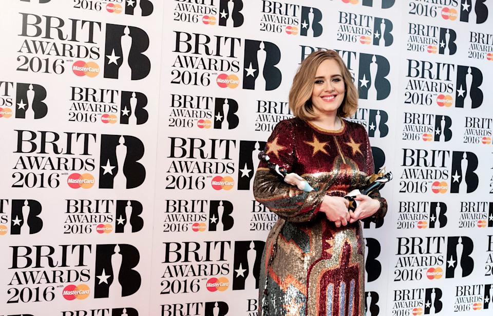 Basically <i>owning</i> the 2016 Brit Awards after winning all 4 awards that she was nominated for, taking her tally to eight Brits in total.