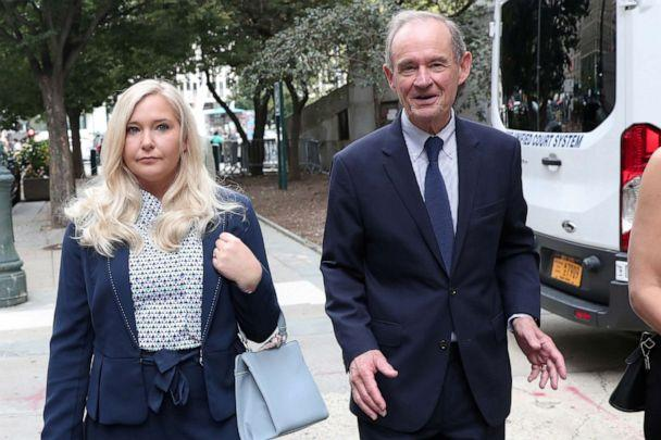 PHOTO: Lawyer David Boies arrives with his client, Virginia Giuffre, for hearing in the criminal case against Jeffrey Epstein, who died in August 2019, at federal court in New York, Aug. 27, 2019. (Shannon Stapleton/Reuters, File)