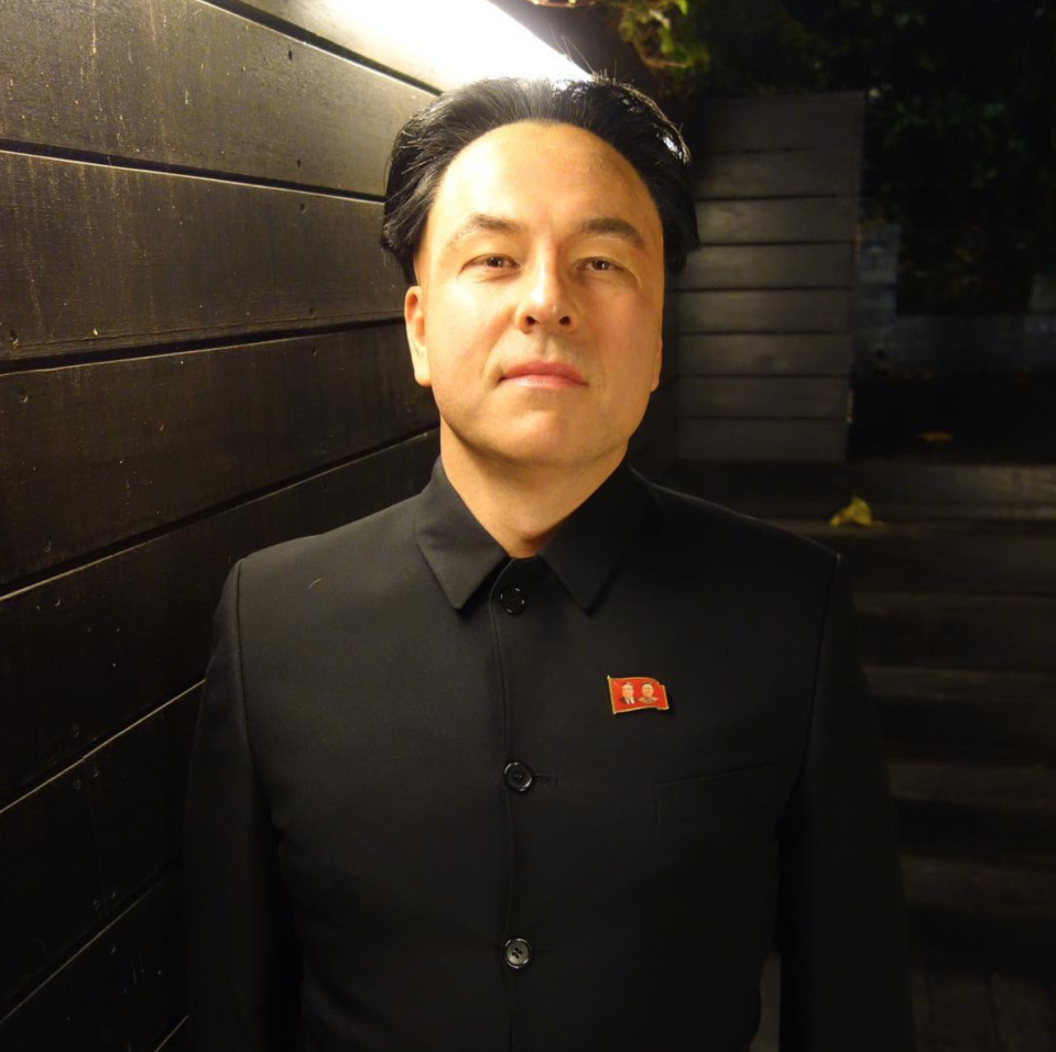 <p>The comedian arrived at Jonathon Ross' 2017 Halloween bash dressed as North Korean leader Kim Jong-un. People were outraged at Walliams' Asian eyelid modification and apparent 'yellowface'.<br><i>[Photo: Instagram/dwalliams]</i> </p>