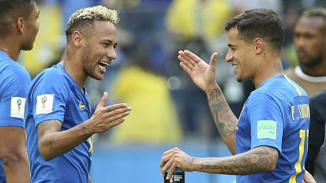 The Selecao star's positive attitude at being back on the pitch is spreading through the squad, his team-mate said after they beat Costa Rica