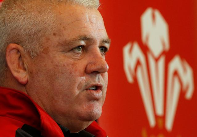FILE PHOTO: Rugby Union - Wales Press Conference - Oatlands Park Hotel - October 15, 2015 Wales head coach Warren Gatland during the press conference Action Images via Reuters/Andrew Boyers/File Photo