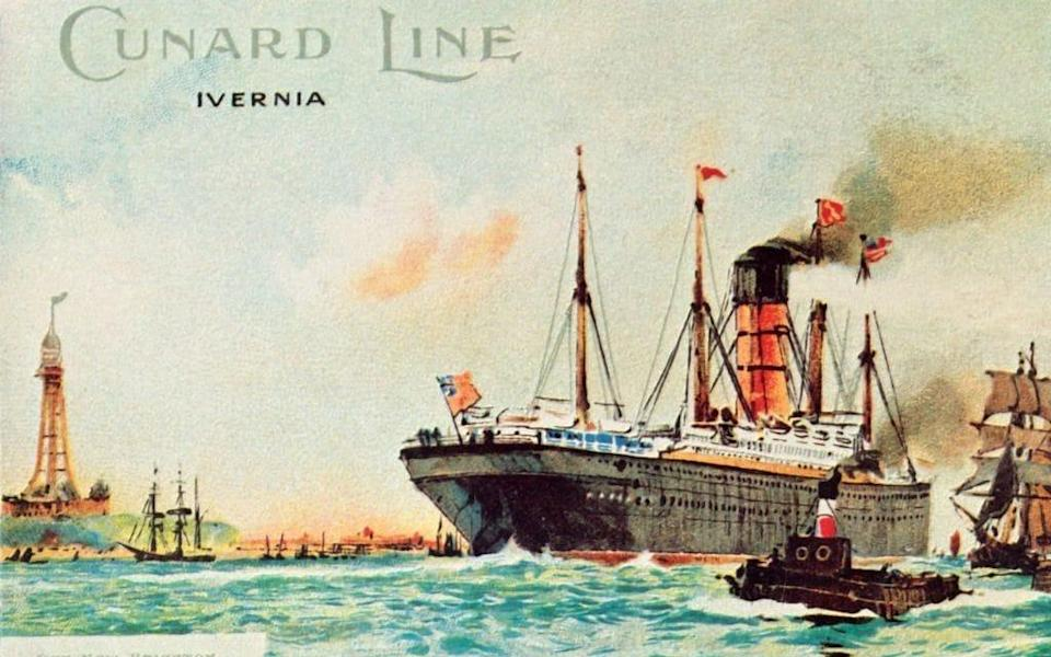 The tower can be seen in this Cunard poster - Getty