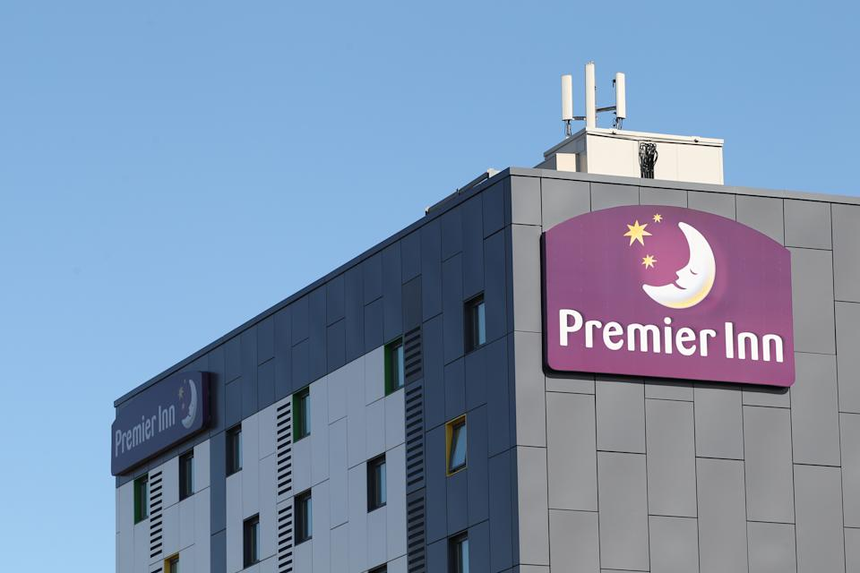 General view of a Premier Inn, Bradford.