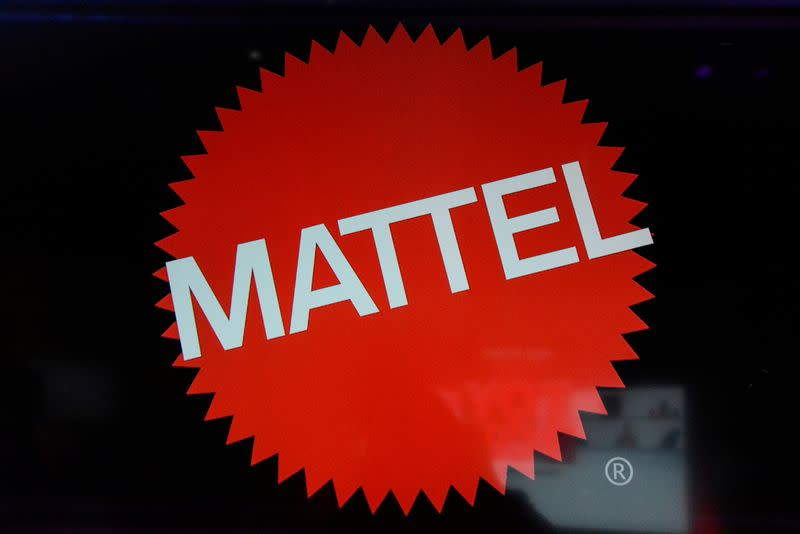 FILE PHOTO: The Mattel company logo is seen at the 114th North American International Toy Fair in New York City