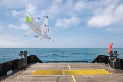 Swift Engineering's Transitional VTOL UAS Autonomously Landing on the Back of a Steel Hull Ship in the Middle of the Ocean