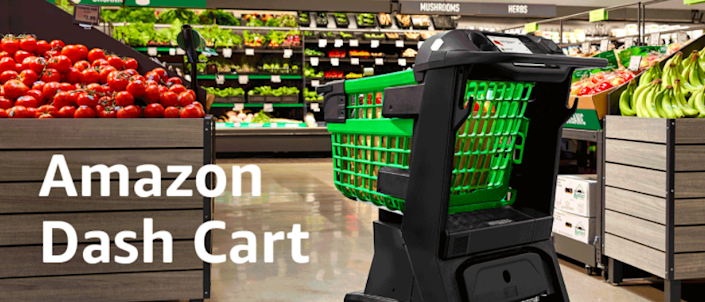 Amazon's latest grocery cart invention lets you skip the checkout line.