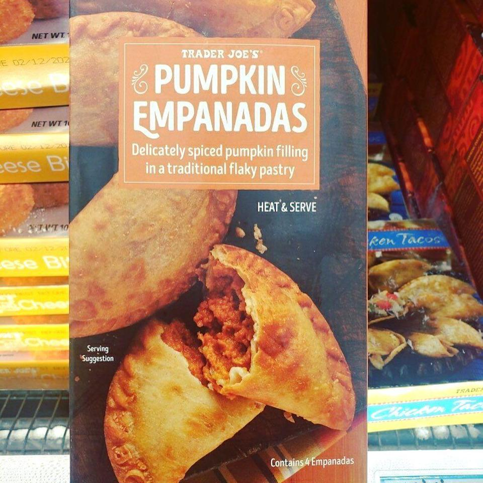 """<p>Trader Joe's just rolled out its pumpkin-flavored fall products, and there are SO many to choose from (though, thankfully, <a href=""""http://www.delish.com/food-news/news/a55650/pumpkin-spice-pizza-villa-italian/"""" rel=""""nofollow noopener"""" target=""""_blank"""" data-ylk=""""slk:pizza"""" class=""""link rapid-noclick-resp"""">pizza</a> is not one of them). These are the items TJ's enthusiasts on Instagram have <a href=""""https://www.instagram.com/p/BZPP8l-h-tm/"""" rel=""""nofollow noopener"""" target=""""_blank"""" data-ylk=""""slk:spotted in stores"""" class=""""link rapid-noclick-resp"""">spotted in stores</a> so far, but the grocery store has also sold pumpkin body butter, toaster pastries, and mini pies <a href=""""http://www.delish.com/food/g3679/pumpkin-snacks-trader-joes-should-sell-year-round/"""" rel=""""nofollow noopener"""" target=""""_blank"""" data-ylk=""""slk:before"""" class=""""link rapid-noclick-resp"""">before</a>—so there's almost certainly more to come.</p>"""