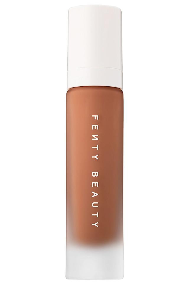 """<p>Rihanna showed every other beauty brand how to dominate the foundation market when she launched her truly inclusive 40-shade collection. Not only is the coverage insane, but it's also long-wearing, easy to blend and non-cakey. <em>The dream. </em></p><p>Here in the UK Fenty Beauty is exclusive to <a rel=""""nofollow"""" href=""""https://www.harveynichols.com/brand/fenty-beauty/644807-pro-filtr-soft-matte-longwear-foundation-100/p2986101/"""">Harvey Nichols</a>. </p><p><a rel=""""nofollow"""" href=""""https://www.harveynichols.com/brand/fenty-beauty/644807-pro-filtr-soft-matte-longwear-foundation-100/p2986101/"""">buy now</a></p>"""