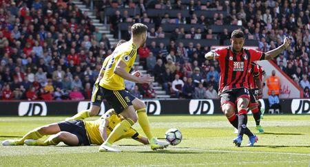 Bournemouth's Joshua King scores their first goal