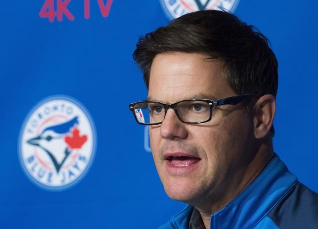Toronto Blue Jays general manager Ross Atkins believes older players have been overcompensated in the past. (AP)