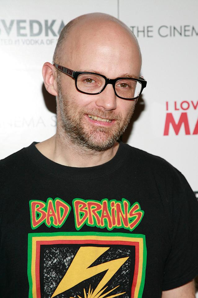 """<a href=""""http://movies.yahoo.com/movie/contributor/1802295619"""">Moby</a> at the New York Cinema Society screening of <a href=""""http://movies.yahoo.com/movie/1810022085/info"""">I Love You, Man</a> - 03/06/2009"""