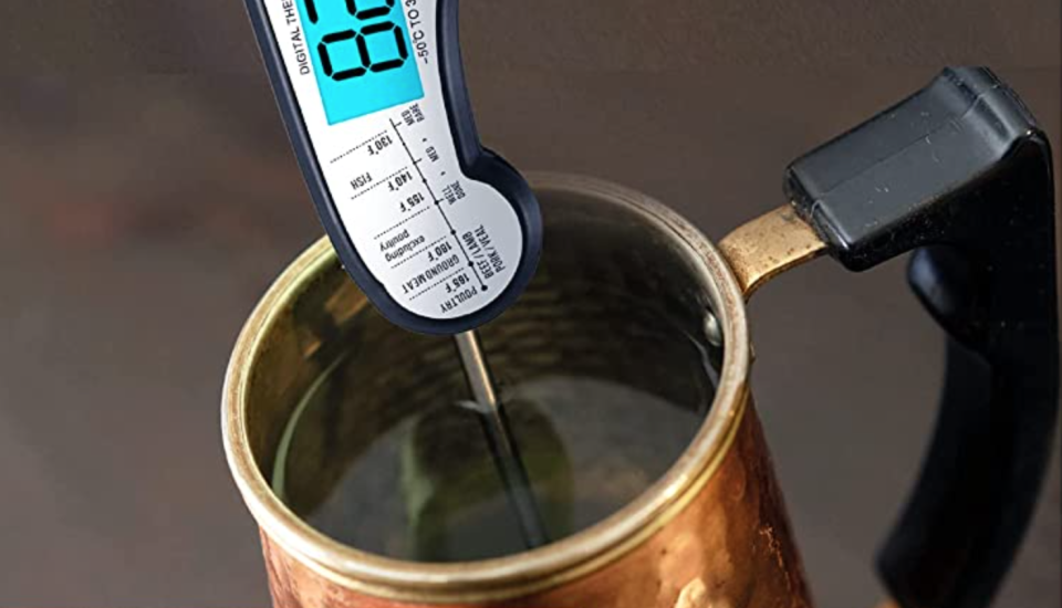 We'll do you a solid with this tip: The Kizen can check the temperature of liquids too. (Photo: Amazon)
