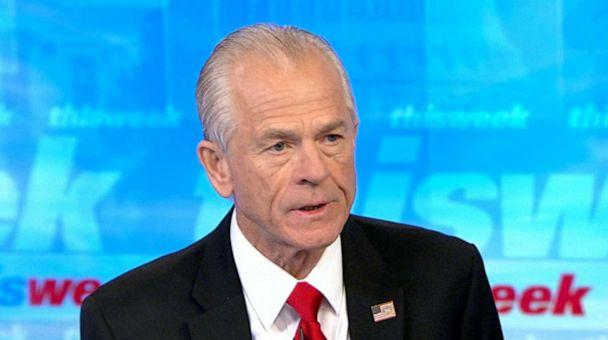 PHOTO: Peter Navarro speaks with Martha Raddatz on 'This Week With George Stephanopoulos,' Aug. 18, 2019. (ABC News)