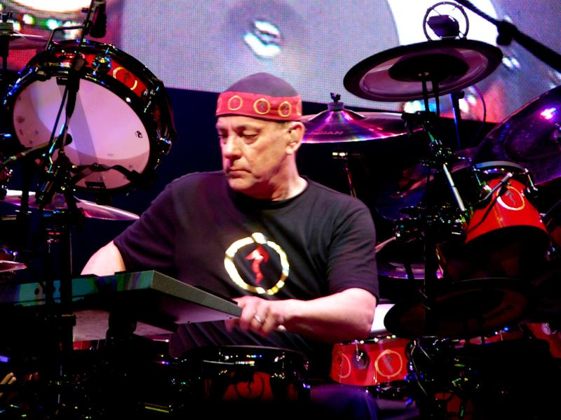 Neil Peart plays the drums.