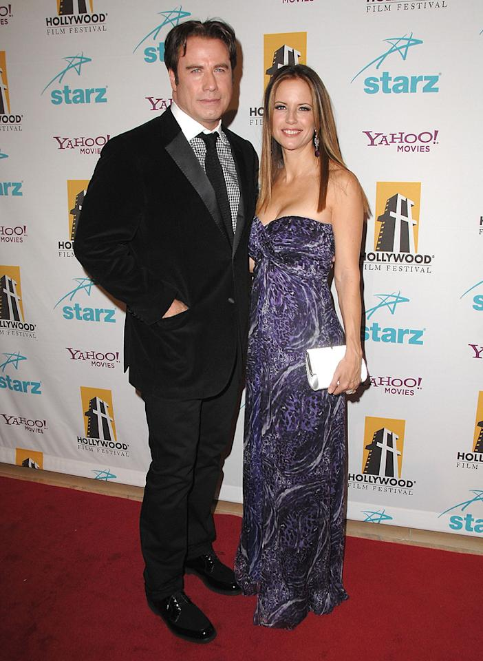"<a href=""http://movies.yahoo.com/movie/contributor/1800019533"">John Travolta</a> and <a href=""http://movies.yahoo.com/movie/contributor/1800016652"">Kelly Preston</a> at the Hollywood Film Festival's Hollywood Awards in Beverly Hills - 10/22/2007"