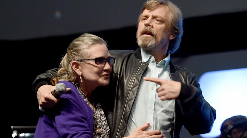 'Star Wars' actor Mark Hamill has shared an appropriate tribute to his friend and former co-star Carrie Fisher on the anniversary of her death.