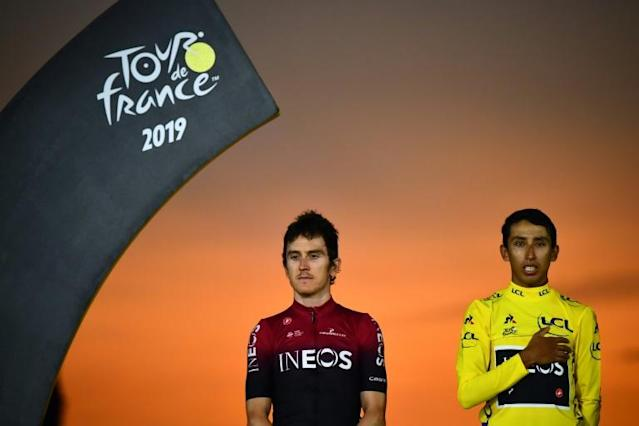 Last year's Tour de France winner Geraint Thomas finished second behind team-mate Egan Bernal at this year's race (AFP Photo/Marco Bertorello)