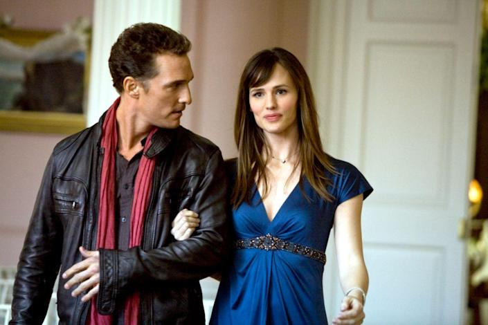 """<p>Garner plays the girl who got away in this rom-com twist on<em> A Christmas Carol</em> starring Matthew McConaughey. The Garner/McConaughey pairing is up there with Barrymore/Sandler as one of the great rom-com duos of our time. Bonus: Emma Stone also stars. </p><p><a class=""""link rapid-noclick-resp"""" href=""""https://www.amazon.com/Ghosts-Girlfriends-Past-Matthew-McConaughey/dp/B002LAZEJE/ref=sr_1_1?tag=syn-yahoo-20&ascsubtag=%5Bartid%7C10072.g.27131604%5Bsrc%7Cyahoo-us"""" rel=""""nofollow noopener"""" target=""""_blank"""" data-ylk=""""slk:WATCH NOW"""">WATCH NOW</a></p>"""