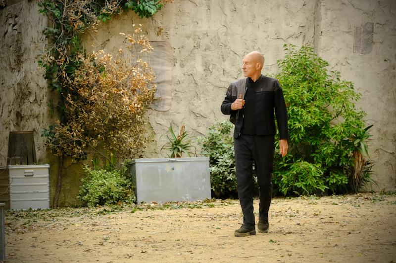 Quirks: Picard now lives in a leafy French vineyard (CBS)