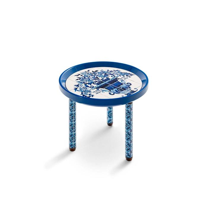 Mediterranean Blue Side Table featured in Dolce & Gabbana's