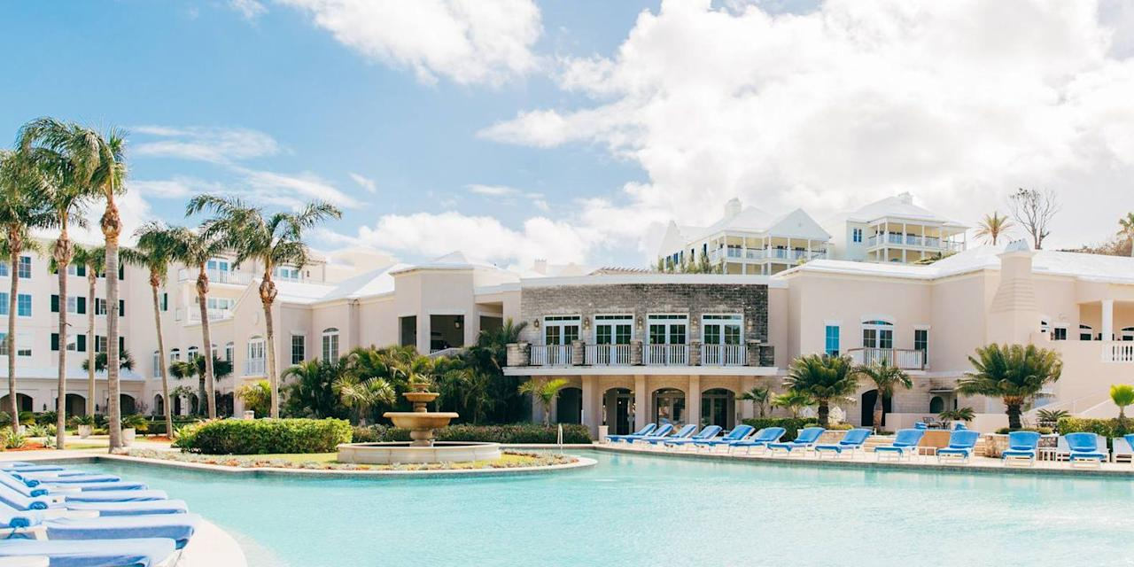 """<p>A trip to the Caribbean provides an escape from the United States without having to travel too far. Head to Bermuda for some relaxation time by crystal-blue water or to tee off at one of their <a href=""""https://www.gotobermuda.com/article/bermudas-award-winning-golf-courses"""" target=""""_blank"""">world-famous golf clubs</a>. Be sure to book an excursion to the <a href=""""https://www.tripadvisor.com/Attraction_Review-g562684-d148022-Reviews-Crystal_Fantasy_Caves-Hamilton_Parish_Bermuda.html"""" target=""""_blank"""">Crystal Caves</a>. The Rosewood resort offers the area's largest private beach, and its views will make you never want to return to your real life.<br></p><p><strong><em>Where to Stay:</em></strong> <a href=""""https://www.hotels.com/ho307584/rosewood-bermuda-hamilton-parish-bermuda/"""" target=""""_blank"""">Rosewood Bermuda</a></p>"""