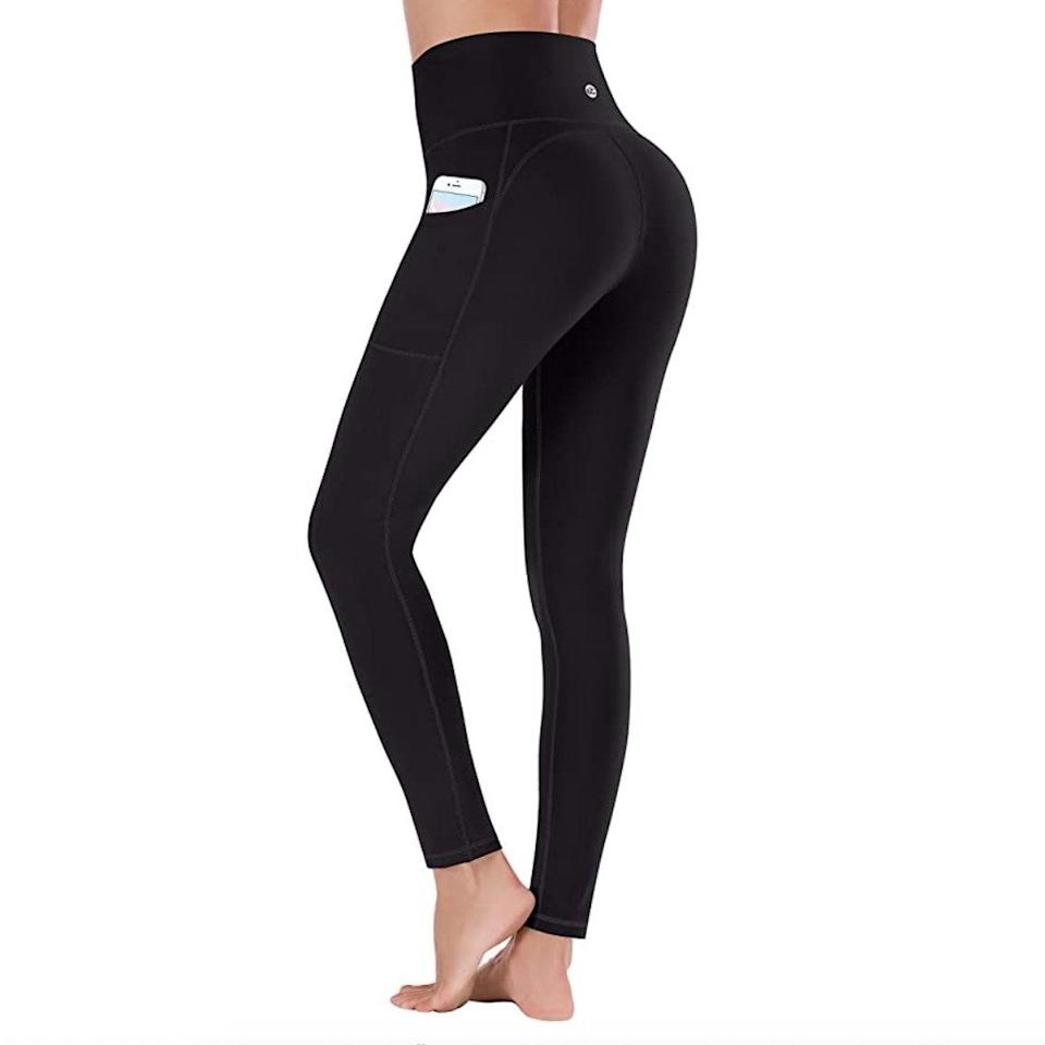 """With over 6,000 reviews, a less-than-$20 price point, and a pocket that actually fits an iPhone, y'all did not hesitate adding these <a href=""""https://www.glamour.com/gallery/best-amazon-leggings?mbid=synd_yahoo_rss"""" rel=""""nofollow noopener"""" target=""""_blank"""" data-ylk=""""slk:discounted Amazon leggings"""" class=""""link rapid-noclick-resp"""">discounted Amazon leggings</a> to cart. $18, Amazon. <a href=""""https://www.amazon.com/Ewedoos-Womens-Yoga-Pants-Pockets/dp/B07RTM7TYW/ref=sr_1_7"""" rel=""""nofollow noopener"""" target=""""_blank"""" data-ylk=""""slk:Get it now!"""" class=""""link rapid-noclick-resp"""">Get it now!</a>"""