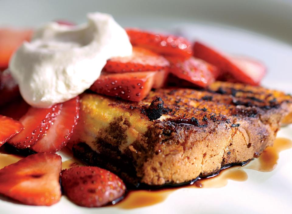 Vegetarian strawberry shortcake with balsamic