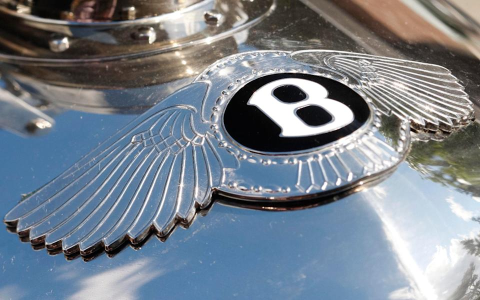 Bentley badge on old-style upright car radiator - Andrew Crowley