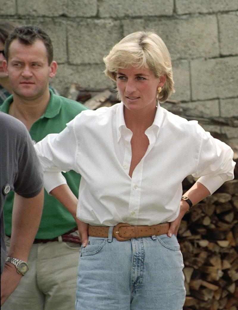 Paul is here with Diana in Bosnia-Herzegovina in 1997. Source: Getty