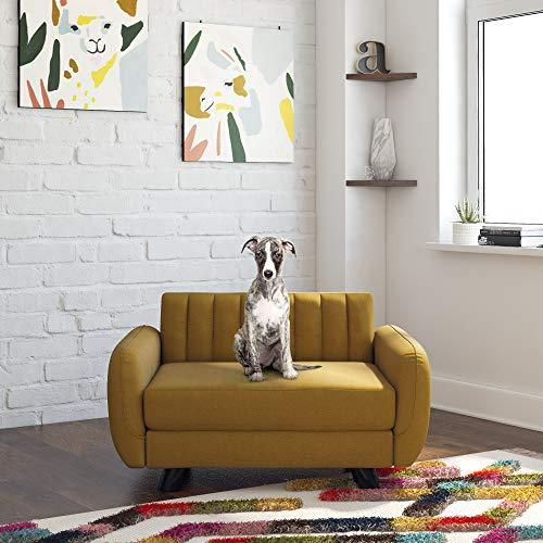 Novogratz Brittany, Small/Medium Size Pet Bed, Mustard Yellow Sofas (Amazon / Amazon)