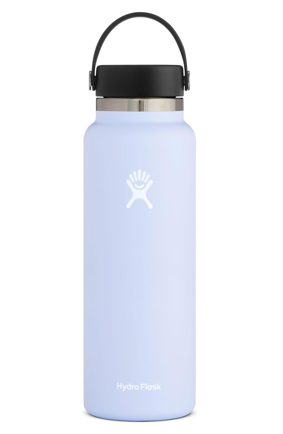 """<h2>Hydro Flask 40-Ounce Wide Mouth Cap Bottle 26% Off</h2><br><br><em>Shop <strong><a href=""""https://www.nordstrom.com/brands/hydro-flask--14701"""" rel=""""nofollow noopener"""" target=""""_blank"""" data-ylk=""""slk:Hydro Flask"""" class=""""link rapid-noclick-resp"""">Hydro Flask</a></strong></em><br><br><strong>Hydro Flask</strong> 40-Ounce Wide Mouth Cap Bottle, $, available at <a href=""""https://go.skimresources.com/?id=30283X879131&url=https%3A%2F%2Fwww.nordstrom.com%2Fs%2Fhydro-flask-40-ounce-wide-mouth-cap-bottle%2F4534339"""" rel=""""nofollow noopener"""" target=""""_blank"""" data-ylk=""""slk:Nordstrom"""" class=""""link rapid-noclick-resp"""">Nordstrom</a>"""