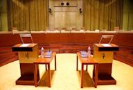 The main courtroom of the European Court of Justice is pictured in Luxembourg January 26, 2017. Picture taken January 26, 2017. REUTERS/Francois Lenoir