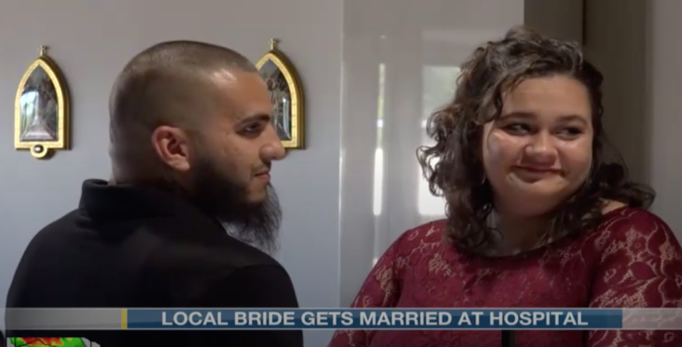 Nurses at CHI Health St. Elizabeth planned a dream wedding for a bride who was ordered to stay in the hospital after her water broke at only 23 weeks of pregnancy. (Photo: KOLN)