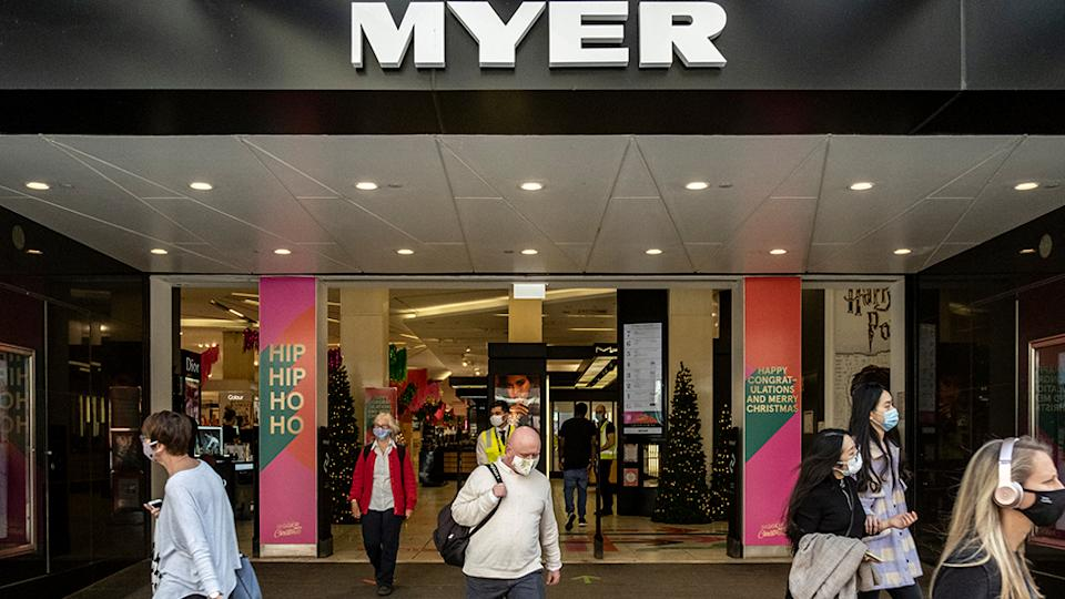 Myer store during a pandemic