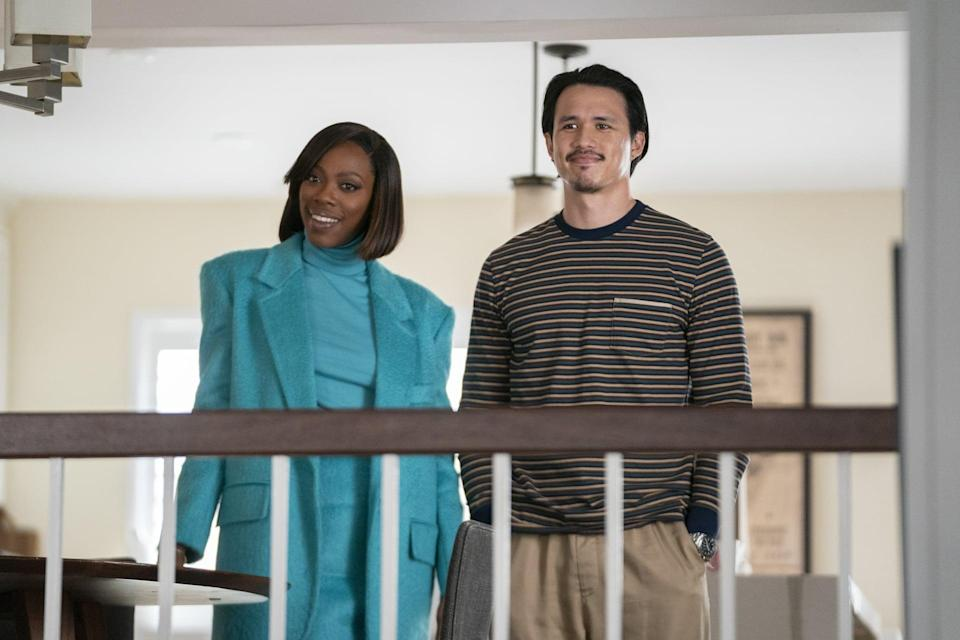 <p>Remember when Molly breezes through the doorway at Andrew's apartment in this monochromatic Max Mara number? Yeah, we can't forget it either. </p>