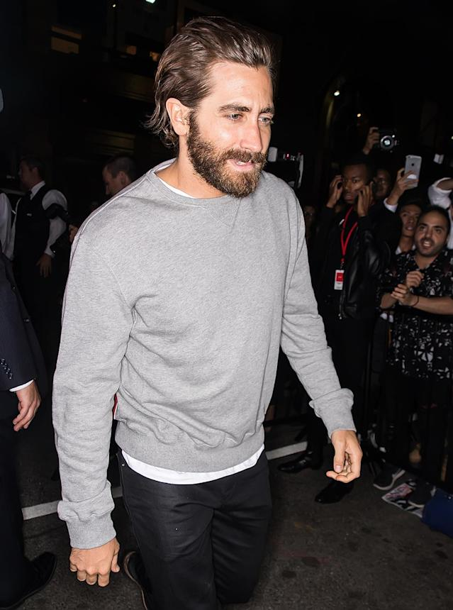 <p>Jake Gyllenhaal arrives at Calvin Klein Collection fashion show during New York Fashion Week on September 7, 2017. (Photo by Gilbert Carrasquillo/GC Images) </p>